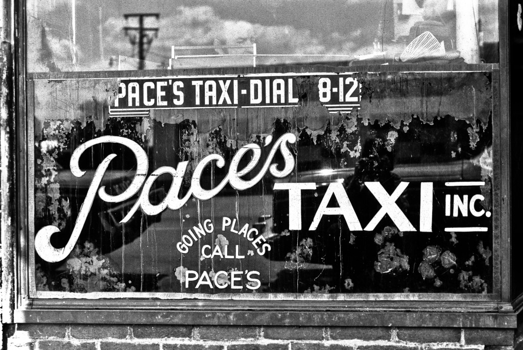 Pace's Taxi Sign1976